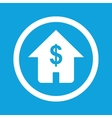 Dollar house sign icon vector image
