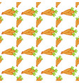 easter carrot cartoon seamless pattern vector image vector image