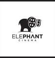 elephant cinema logo template movie production vector image vector image
