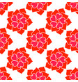 flower from red heart seamless pattern vector image vector image