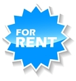 For rent blue icon vector image vector image
