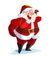 Funny santa Christmas greeting card vector image