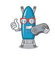 gamer iron board mascot cartoon vector image vector image