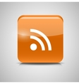 Glass Rss Button Icon vector image