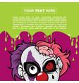 halloween background design - clown zombie vector image vector image