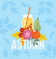 hand drawn autumn party greeting card invitation vector image vector image