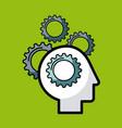 heads sprockets human vector image