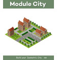 historic educational buildings vector image vector image