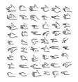 human hand gestures set sketch vector image vector image