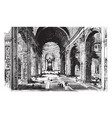 interior of st peters basilica vintage vector image vector image