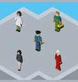 isometric people set of plumber female officer vector image vector image