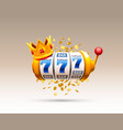 king slots 777 banner casino on white vector image vector image