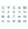 large set cartoon business and finance icons vector image