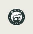 logo goat pose vintage badge style vector image