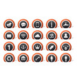 lot icons vector image vector image