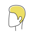 man hairstyle color icon hair care head vector image