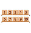 math number on wooden template vector image vector image