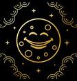 moon smile line art style design vector image