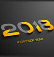 new year 2018 in isometric style vector image vector image