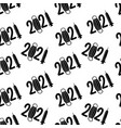 new year 2021 monochrome seamless vector image vector image