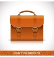 orange color leather briefcase icon vector image vector image