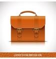 orange color leather briefcase icon vector image