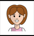 people happy face woman icon vector image vector image
