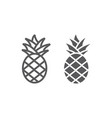 pineapple line and glyph icon fruit and food vector image vector image