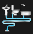 plumbing and water supply systems vector image vector image