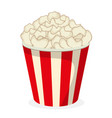 popcorn icon fastfood isolated sweet food and vector image