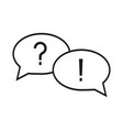 question and answer icon vector image
