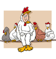 ruler of the roost saying cartoon vector image vector image