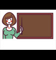 school teacher or tutor standing blackboard at vector image