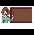school teacher or tutor standing blackboard vector image vector image