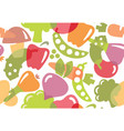 seamless background of vegetables vector image