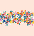 seamless border with a lot flowers vector image