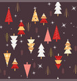 seamless night forest trees pattern vector image vector image
