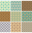 seamless ornament patterns vector image vector image