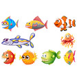 set different fish vector image vector image
