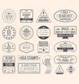 set of international visa stamps vintage travel vector image