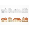set suburban homes vector image