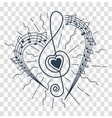 silhouette musical representation vector image vector image