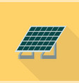 solar panel icon flat style vector image