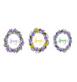 spring wreath with crocusesmimosa and lettering vector image vector image