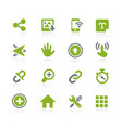 system icons interface natura series vector image vector image