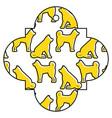 tag japanese dog zodiac calendar pattern vector image