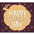 thanksgiving with pumpkin and text happy tha vector image vector image
