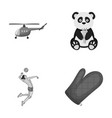 travel ecology exotics and other monochrome icon vector image vector image