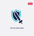 two color role playing game icon from gaming vector image vector image