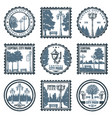 vintage central city park emblems set vector image vector image